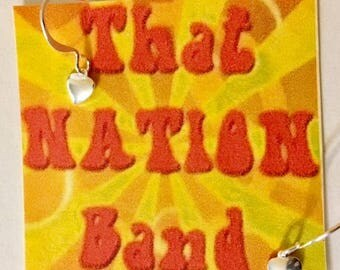 That NATION Band Silver Plated Heart Earrings