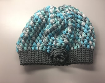 Crochet Multi-color Slouchy Hat