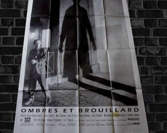 """vtg fr poster WOODY ALLEN """"ombres et brouillard"""""""