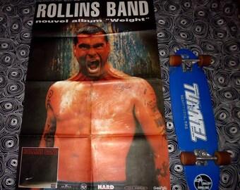 "1994 rare ROLLINS BAND original poster album ""weight'"