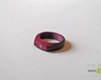 wooden ring faith with bright headband ring faith unconventional wedding rings - Unconventional Wedding Rings