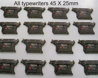 16 X Vintage Typewriters Laser cut on wood
