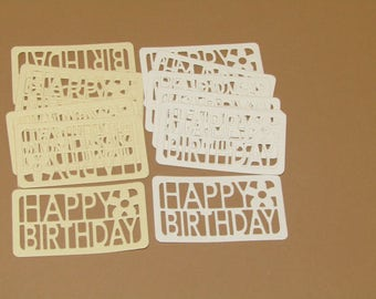 Happy Birthday Sentiment Die-cuts x 15 - Papercraft, Cardmaking, Scrapbooking, Birthday