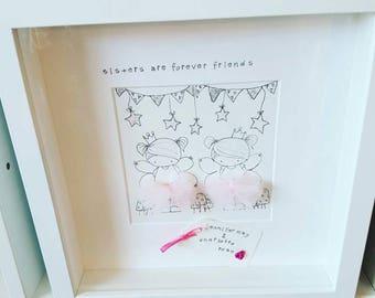 sisters print box frame