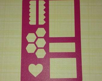 Box Stencil for Happy Planner! bullet journal bujo planner bible art journaling