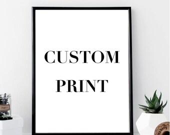 Custom Print // Minimal // Wall Art Print // Home Decor // Modern Office Print // Typography // Fashion Print
