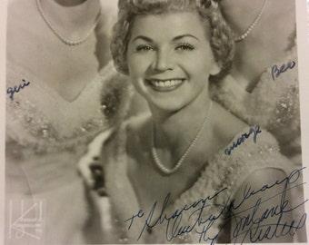 Autograph Photo Fontaine Sister 1955