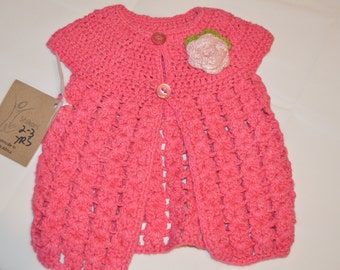 2 - 3 Years Old Girls' Bright Pink Cardigan