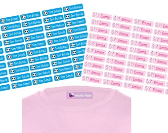 50 personalized iron labels laundry labels Textile sticker sticker with name and motif