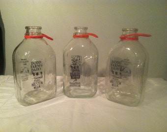 Vintage 1/2 Gallon Milk Jugs