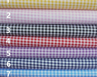 classical bright gingham check fabric, per fat quarter/per half meter/per meter/per fat quarter bundle