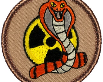 Nuclear Cobra Patch (662) 2 Inch Diameter Embroidered Patch