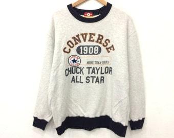 Rare! Vintage 90's CONVERSE Chuck Taylor All Star Sweatshirt 4L Size