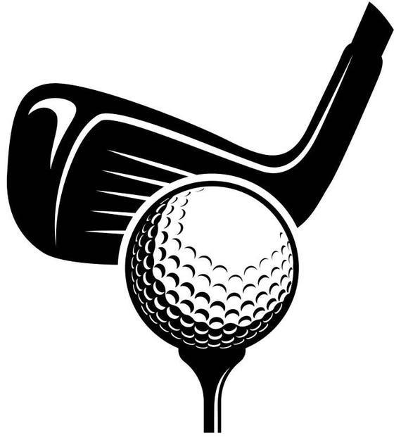 golf logo 6 tournament clubs iron wood golfer golfing