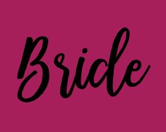 Bride decal, bride sticker, bride monogram