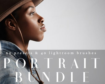 Professional Lightroom Portrait Bundle 60 Presets & 40 Brushes Professional Photo Editing for Portraits, Newborns, Weddings By LouMarksPhoto