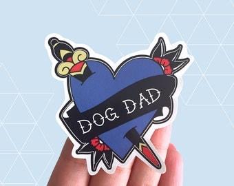 Dog Dad Vinyl Sticker