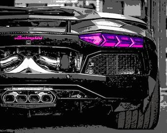 Lamborghini Wall Art Etsy