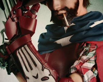 Overwatch - American Jesse McCree cosplay - mechanical robotic arm - videogame costume and props