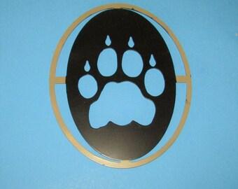 Cougar, Mountain Lion, Cat Track, Metal Art, Handmade, Hunting, Sportsman