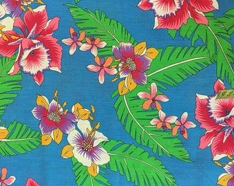 Printed Cotton Fabric of Hawaiian Floral, #dr102