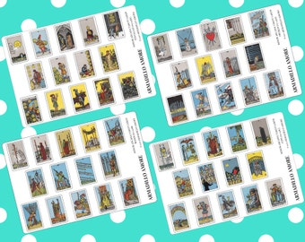 Minor Arcana Tarot Card Stickers {14+ Matte or Glossy Planner Stickers} | #17-258