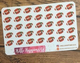 Kawaii Football Stickers - Sports Stickers - School Stickers- Planner Stickers - Functional Stickers