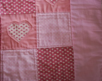 Pink Hearts Quilt