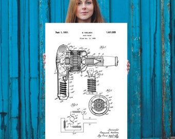Hair Dryer Patent Print // Patent Prints