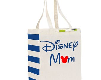 Disney Mom reusable tote, Mothers Day Gift, Gift for Mom, Reuseable tote, grocery bag, gift, Mothers Day, Disney, Mom