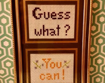 Guess what? You can! framed cross stitch