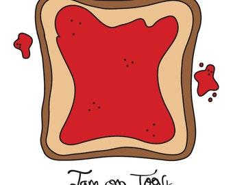 Jam On Toast Postcard