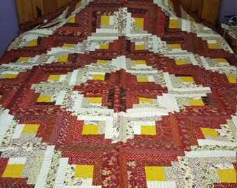 Log Cabin quilt (4237)