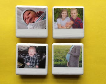 Personalized magnets, polaroid magnets, fridge magnets, custom magnets