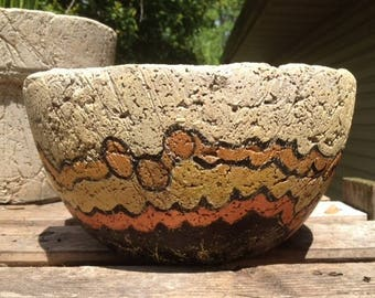 Handpainted Hypertufa Pot/Planter
