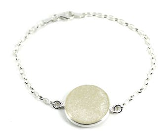 "DIY Breast Milk Sterling Silver Bracelet, ""Solid Milk Series"" Do it Yourself DNA Breastmilk keepsake"