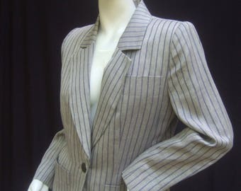 Yves Saint Laurent Rive Gauche Striped Jacket Size 38