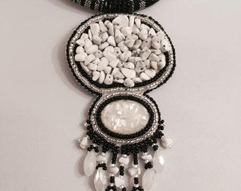 Gemstone Nugget Necklace