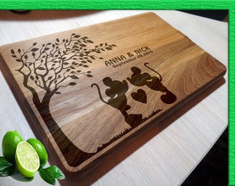cutting boards handmade /  Mickey Mouse cutting board  Wedding gift  Disney Wedding Gift  Cutting Board  disney wedding gift  Wedding Gift