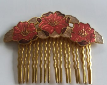 Vintage Cloisonne Style Fish Hair Clip - Chic Retro Boho - French Inspired - Spring Time