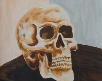 skull - earth tone