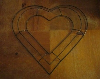 heart shaped wire wreath frame 13 12 inches across