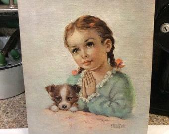 Florence Kroger print / girl praying