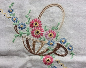 Tablecloth/ Octagon shaped / embroidered