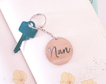 Nan Mini Wood Keyring