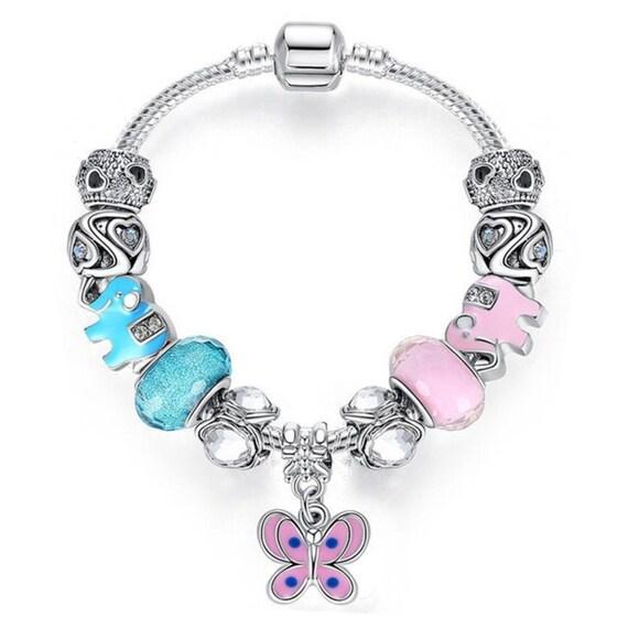 Make Your Own Charm Bracelets: Charm Central Pink Butterfly/Elephant DIY Charm Bracelet