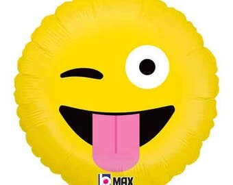 "Emoji Wacky Balloon- Emoji Balloons-18"" Foil Balloon- Birthday Party Balloons"