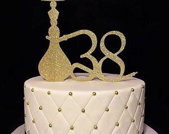 Hooka Cake Topper - pipe bling cake topper