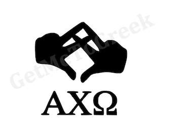 Alpha Chi Omega Hand Sign Decal