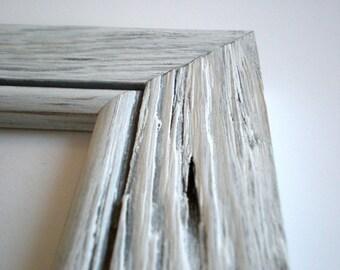 "Photo frame 12x12"" frame picture frame Driftwood frame distressed frame rustic white frame crafts home decor chicframeshop"
